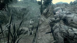 Snake se cachant d'un PMC
