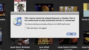 Restrictions HDCP sous iTunes